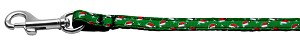 Santa Hat Nylon and Ribbon Collars . 3/8'' wide x 4' Leash