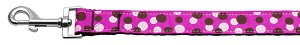 Confetti Dots Nylon Collar Fuchsia 1 wide 6ft Lsh