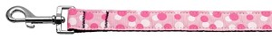 Confetti Dots Nylon Collar Light Pink 1 wide 6ft Lsh