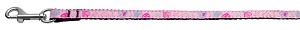 Crazy Hearts Nylon Collars Light Pink 3/8 wide 4Ft Lsh