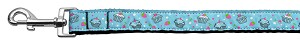 Cupcakes Nylon Ribbon Leash Baby Blue 1 inch wide 4ft Long
