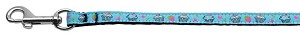 Cupcakes Nylon Ribbon Leash Baby Blue 3/8 inch wide 4ft Long