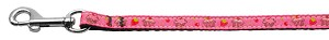 Cupcakes Nylon Ribbon Leash Bright Pink 3/8 wide 6ft Long