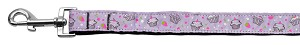 Cupcakes Nylon Ribbon Leash Purple 1 inch wide 4ft Long