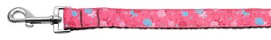 Lollipops Nylon Ribbon Leash Bright Pink 1 inch wide 6ft Long