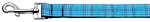 Plaid Nylon Collar Blue 1 wide 4ft Lsh