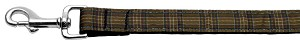 Plaid Nylon Collar Brown 1 wide 4ft Lsh