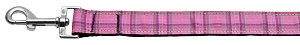 Plaid Nylon Collar Pink 1 wide 4ft Lsh