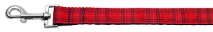 Plaid Nylon Collar Red 1 wide 4ft Lsh