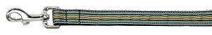 Preppy Stripes Nylon Ribbon Collars Light Blue/Khaki 1 wide 6ft Lsh