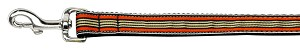 Preppy Stripes Nylon Ribbon Collars Orange/Khaki 1 wide 4ft Lsh