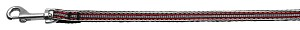 Preppy Stripes Nylon Ribbon Collars Red/White 3/8 wide 4Ft Lsh