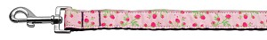 Roses Nylon Ribbon Leash Light Pink 1 inch wide 6ft Long