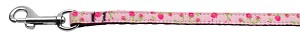 Roses Nylon Ribbon Leash Light Pink 3/8 wide 6ft Long