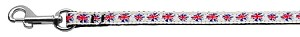 Graffiti Union Jack(UK Flag) Nylon Ribbon Leash 3/8 wide 6ft Long