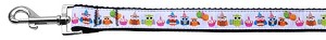 Party Owls Nylon Ribbon Collars 1 wide 4ft Leash