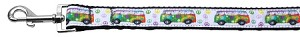 Peace Bus Ribbon Dog Collars 1 wide 4ft Leash