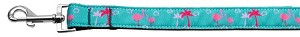 Pink Flamingos Nylon Ribbon Pet Leash 1 inch wide 6Ft Lsh