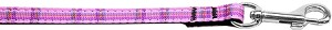 Plaid Nylon Collar Pink 3/8 wide 6ft Lsh
