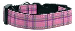 Plaid Nylon Collar Pink Medium