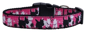 Plaid Pups Nylon Ribbon Dog Collar Large
