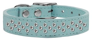 Sprinkles Clear Crystal Leather Baby Blue 16
