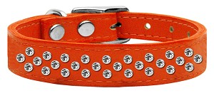 Sprinkles Clear Crystal Leather Orange 16