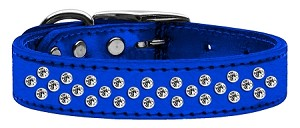 Sprinkles Clear Crystal Metallic Leather Blue 16