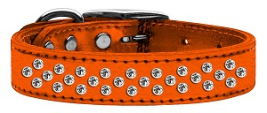 Sprinkles Clear Crystal Metallic Leather Orange 18