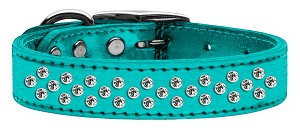 Sprinkles Clear Crystal Metallic Leather Turquoise 20