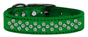 Sprinkles AB Crystal Metallic Leather Emerald Green 18