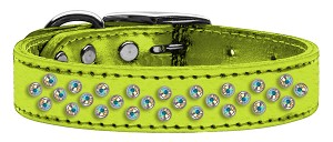 Sprinkles AB Crystal Metallic Leather Lime Green 16