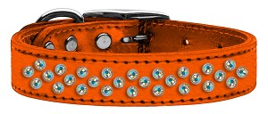 Sprinkles AB Crystal Metallic Leather Orange 16