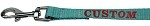 Custom Embroidered Made in the USA Nylon Pet Leash 3/8in by 4ft Ocean Blue