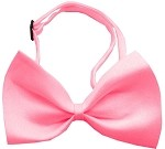 Plain Bubblegum Pink Bow Tie