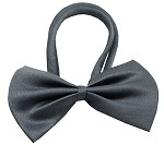 Plain Grey Bow Tie