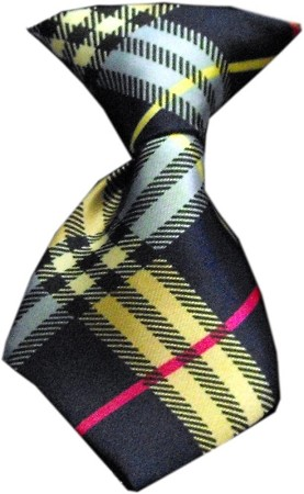 Dog Neck Tie Plaid Mix