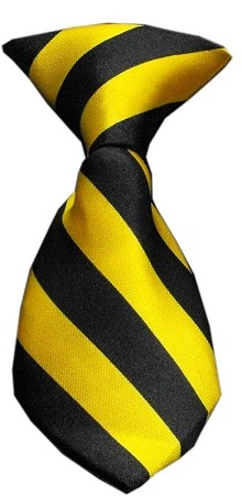 Dog Neck Tie Striped Yellow