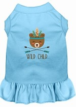 Wild Child Embroidered Dog Dress Baby Blue Med (12)