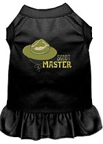 Scout Master Embroidered Dog Dress Black XL (16)