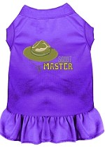 Scout Master Embroidered Dog Dress Purple Sm (10)