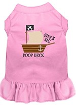 Poop Deck Embroidered Dog Dress Light Pink Sm (10)