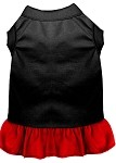 Plain Dress Black with Red XS (8)