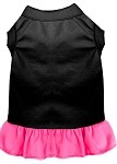 Plain Dress Black with Bright Pink XS (8)
