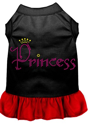 Princess Rhinestone Dress Black with Red XL (16)