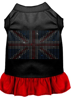 Rhinestone British Flag Dress Black with Red Lg (14)
