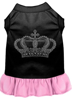 Rhinestone Crown Dress Black with Light Pink Med (12)