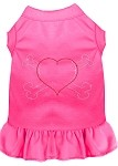 Rhinestone Heart and crossbones Dress Bright Pink XS (8)