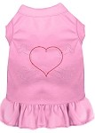 Rhinestone Heart and crossbones Dress Light Pink XS (8)