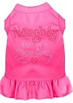 Rhinestone Naughty but in a nice way Dress Bright Pink XS (8)